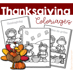Thanksgiving - Action de grâce - Coloriages