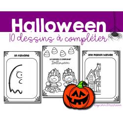 Halloween - 10 dessins à compléter
