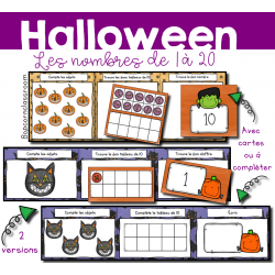 Les nombres de 1 à 20 - Halloween