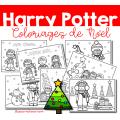 Harry Potter - Coloriages de Noël