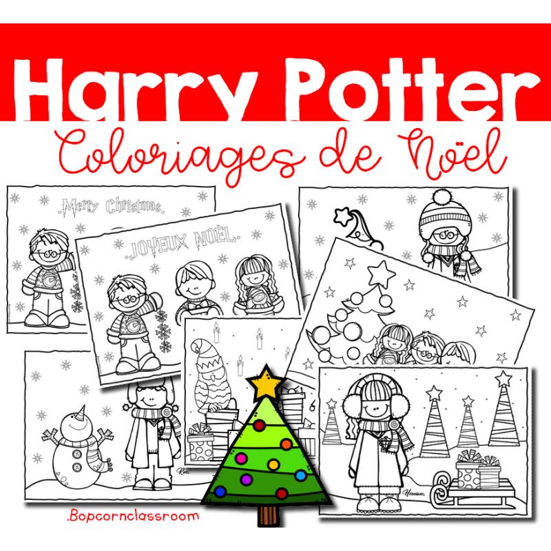 Harry Potter Coloriages De Noel