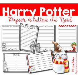 Harry Potter - Papier à lettre de Noël