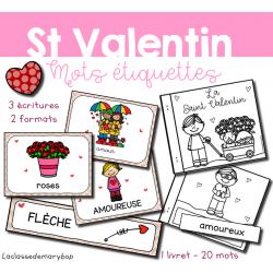 Saint Valentin - 20 mots étiquettes
