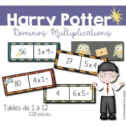 Harry Potter - Dominos multiplications