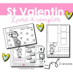 Mon livre à compter - Saint Valentin