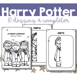 Harry Potter - Dessins à compléter