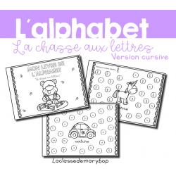 Alphabet - Chasse aux lettres - Cursive