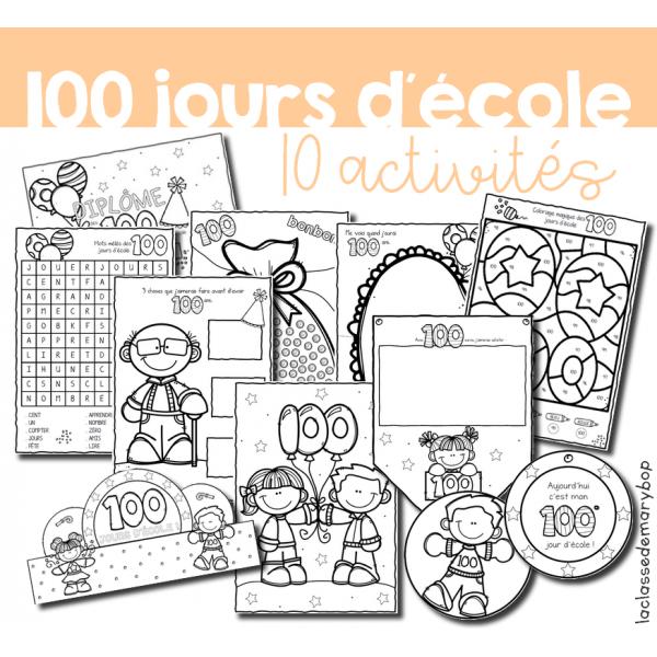 100 jours d´école - Activités