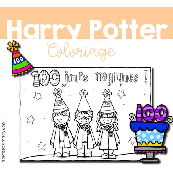 Harry Potter - Coloriage 100 jours