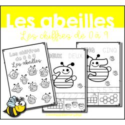 Les chiffres de 0 à 9 - Les abeilles