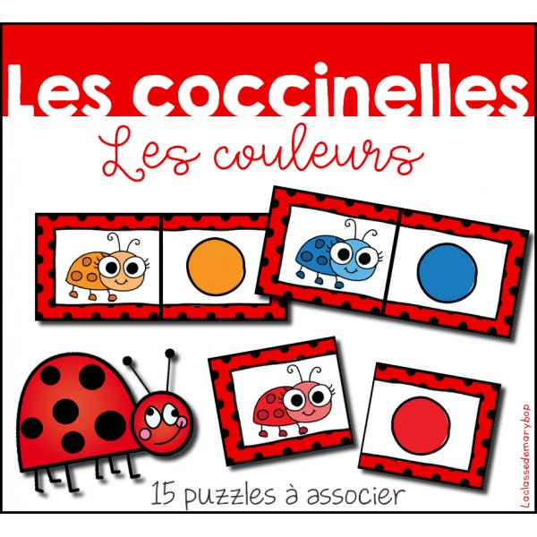 Coccinelles - Puzzles couleurs