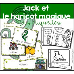 Jack Haricot magique - 17 mots étiquettes
