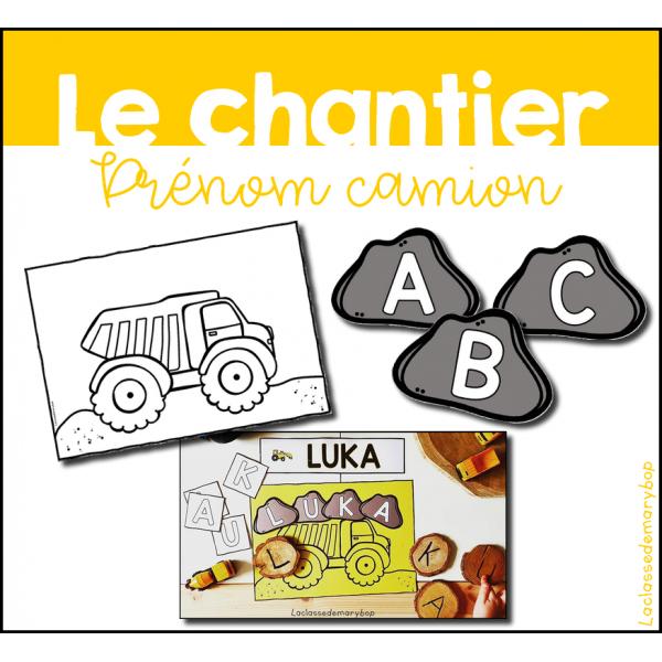 Chantier - Prénom camion