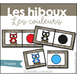 Hiboux - Puzzles couleurs