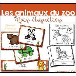 Les animaux du zoo - étiquettes et livret