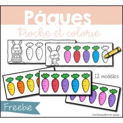 Pâques - Pioche et colorie