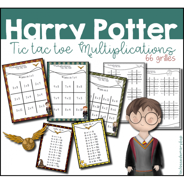 Harry Potter - Tic Tac Toe Multiplications