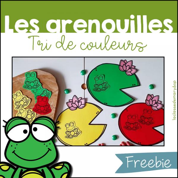 Les grenouilles - Tri de couleurs