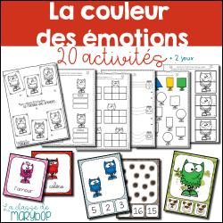 Cahier d´activités - La couleur des émotions