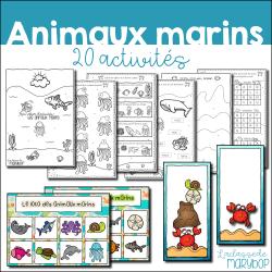 20 activités - Les animaux marins