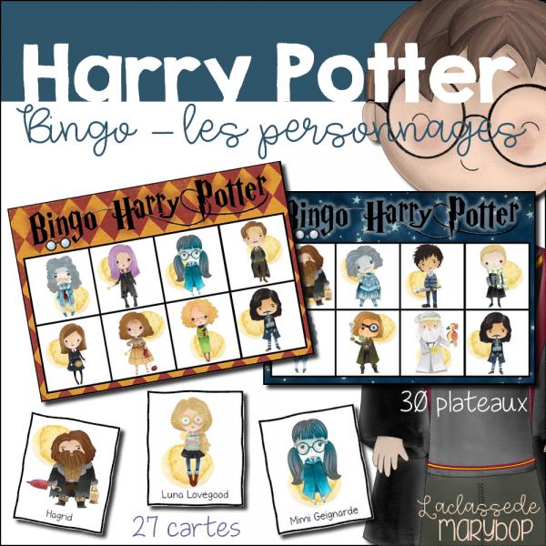 Bingo Harry Potter - Les personnages