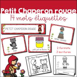 Petit Chaperon rouge - étiquettes et livret