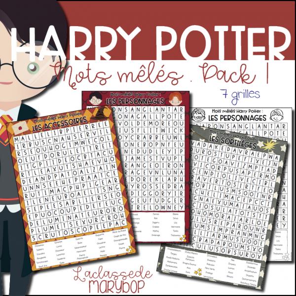 ★ Mots mêlés Harry Potter - Pack 1