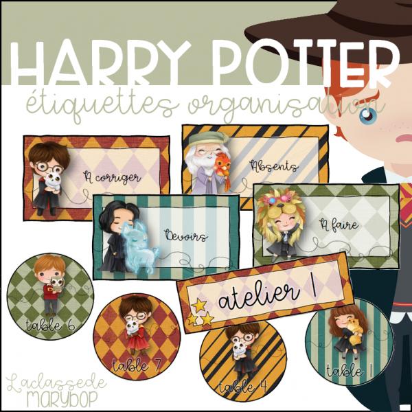 Étiquettes organisation Harry Potter