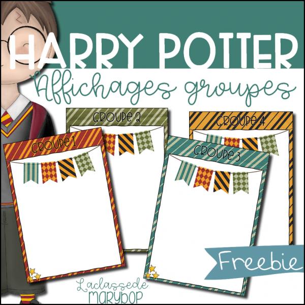 Affichages des groupes - Harry Potter