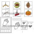 Trésor d´automne - Cartes de nomenclature