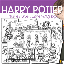 Harry Potter Coloriages - Automne - Halloween