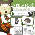 Animaux de la forêt - étiquettes et livret