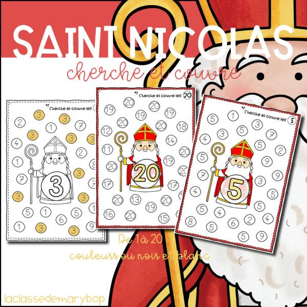 Saint Nicolas - Cherche et couvre de 1 à 20