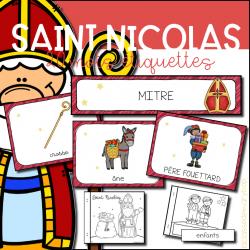 Saint Nicolas - étiquettes et livret