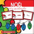 Noël - Mots guirlande