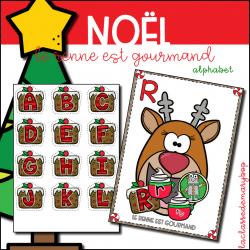 Le renne est gourmand - Noel - Alphabet
