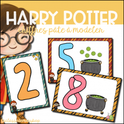 Harry Potter - Chiffres Pâte à modeler