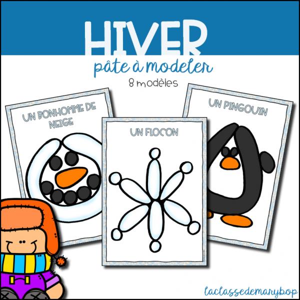Hiver - Pâte à modeler
