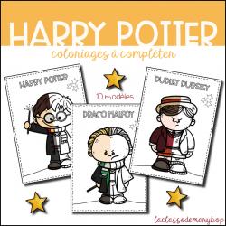 Harry Potter - Coloriages à compléter