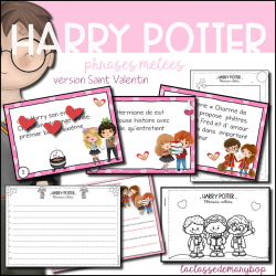 Harry Potter - Phrases mêlées Saint Valentin