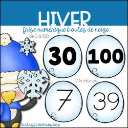 Hiver - Frise numérique 0 à 100