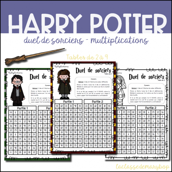★ Duel de sorciers Harry Potter Multiplications