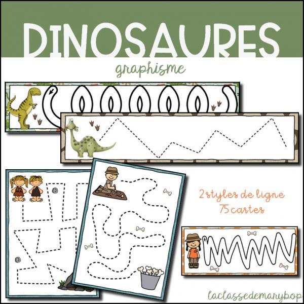 Pistes Graphiques - Dinosaures - Préhistoire