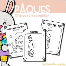 Pâques - 10 dessins à compléter
