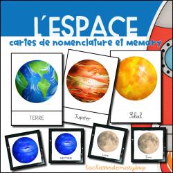Planètes : Cartes de nomenclature et memory