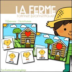 La ferme - Formes géométriques