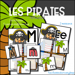 Les pirates Alphabet - Jeu d´association