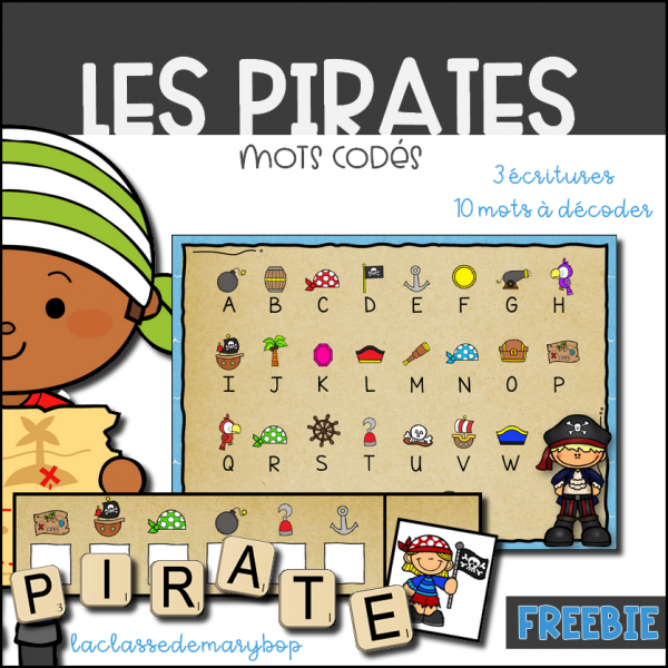 Les pirates - Mots codés