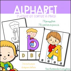 Alphabet - Puzzles et cartes à pince