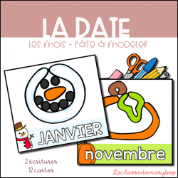 La date - Les mois pâte à modeler
